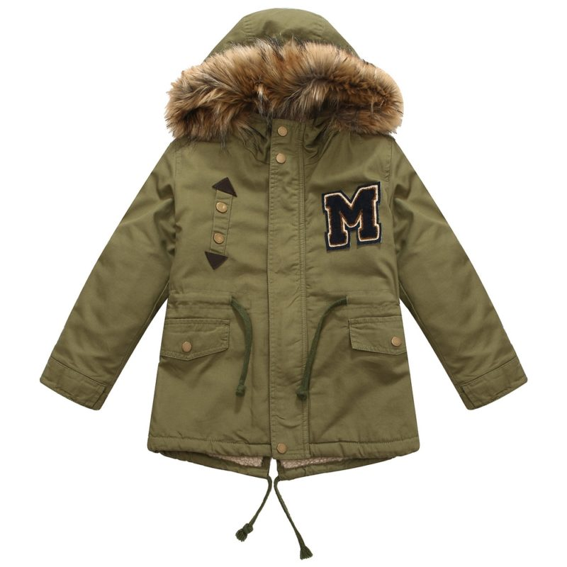 Olive Winter Padding Jacket with Hood