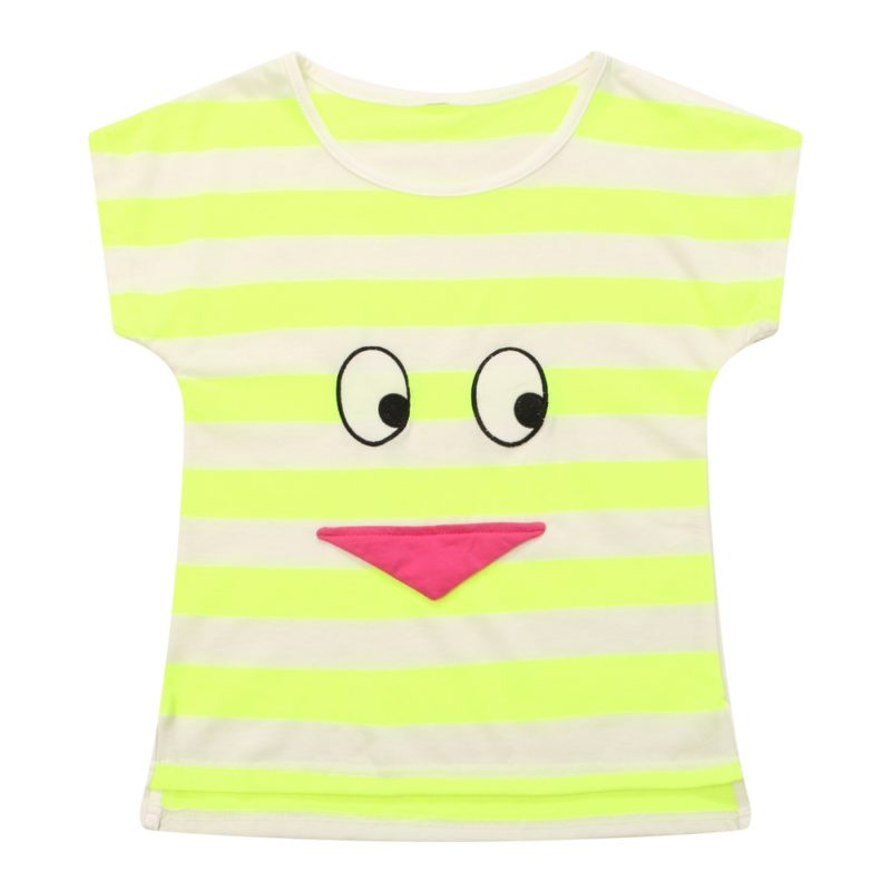 Fluorescence Color Striped T-shirt