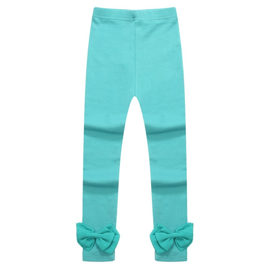 Anchored Leggings with Bow at Cuff