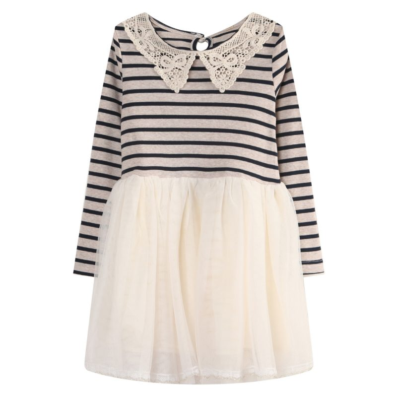 Long Sleeve Knit Dress Striped