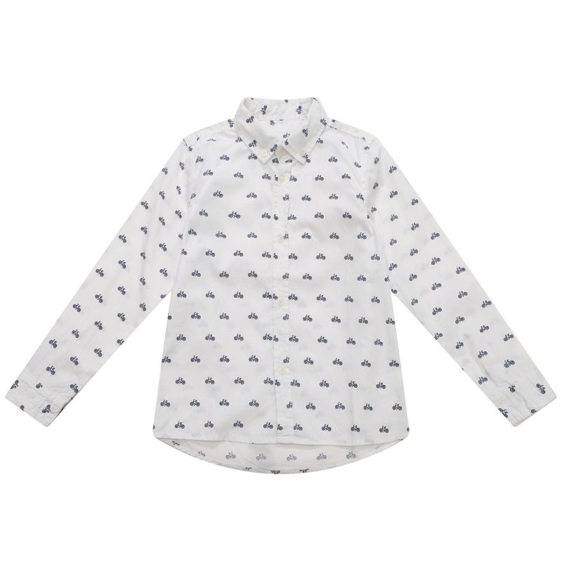 Classic Long Sleeve Shirt with Print