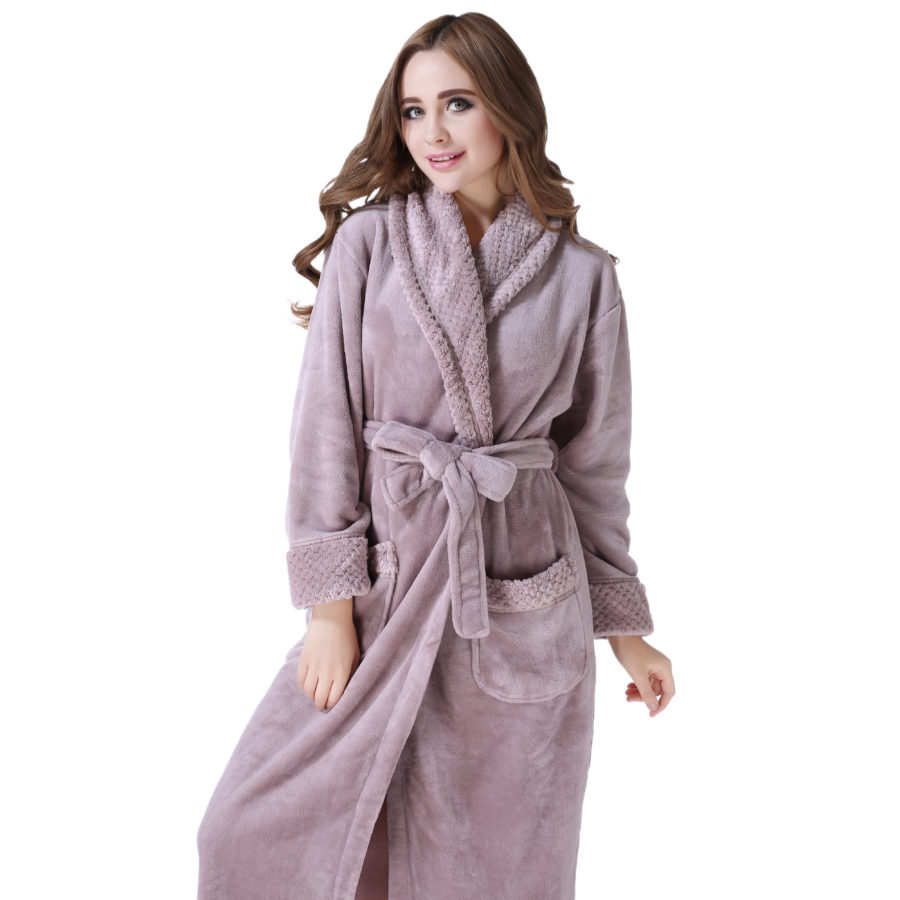 Bathrobe: Plush Soft Warm Fleece Bathrobe Robe