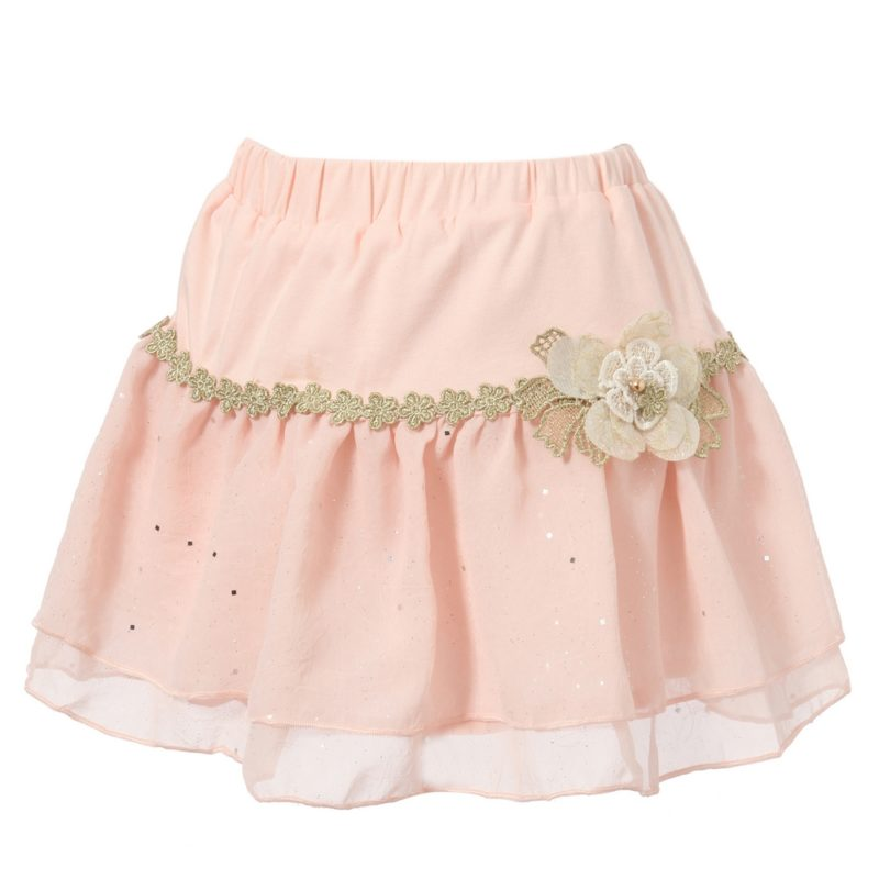 Sweet Peach Skirt with Elastic Waistband