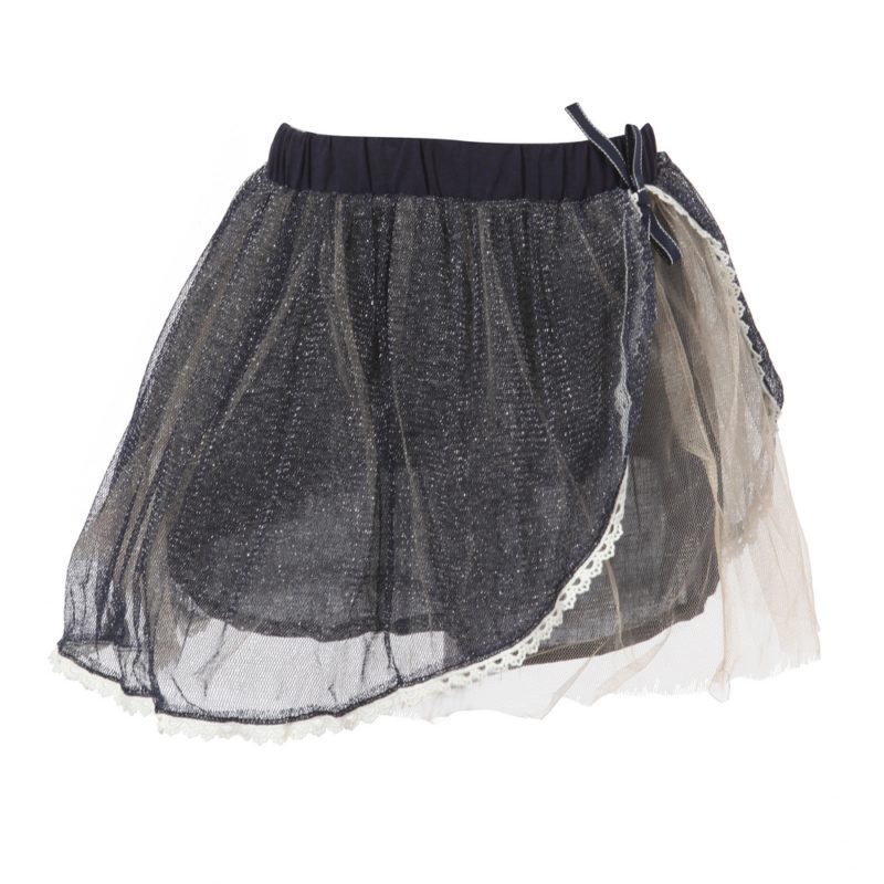 Sweet Skirt with Layered Mesh Bottoms