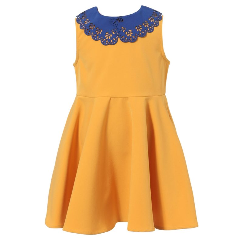 Dress With Fancy Contrasted Collar
