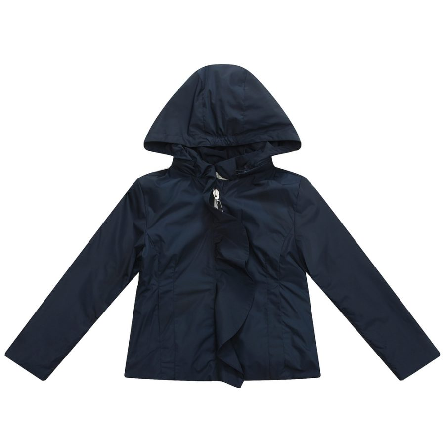 Solid Colored Coat with Hood