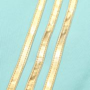 Zip Jacket with Gold Snaps and Pipings