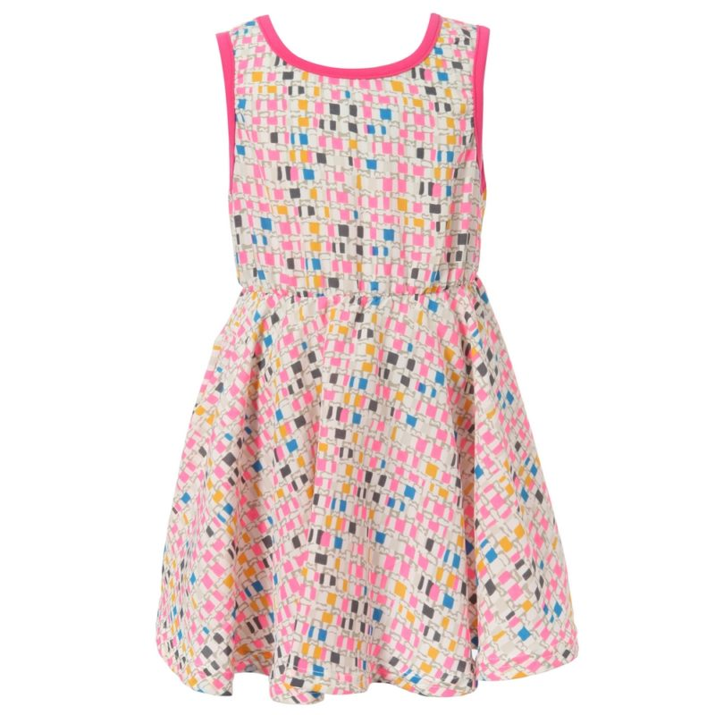 Dress With All Over Patterned Print