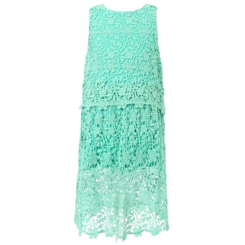 Dress With Laced Outlayer