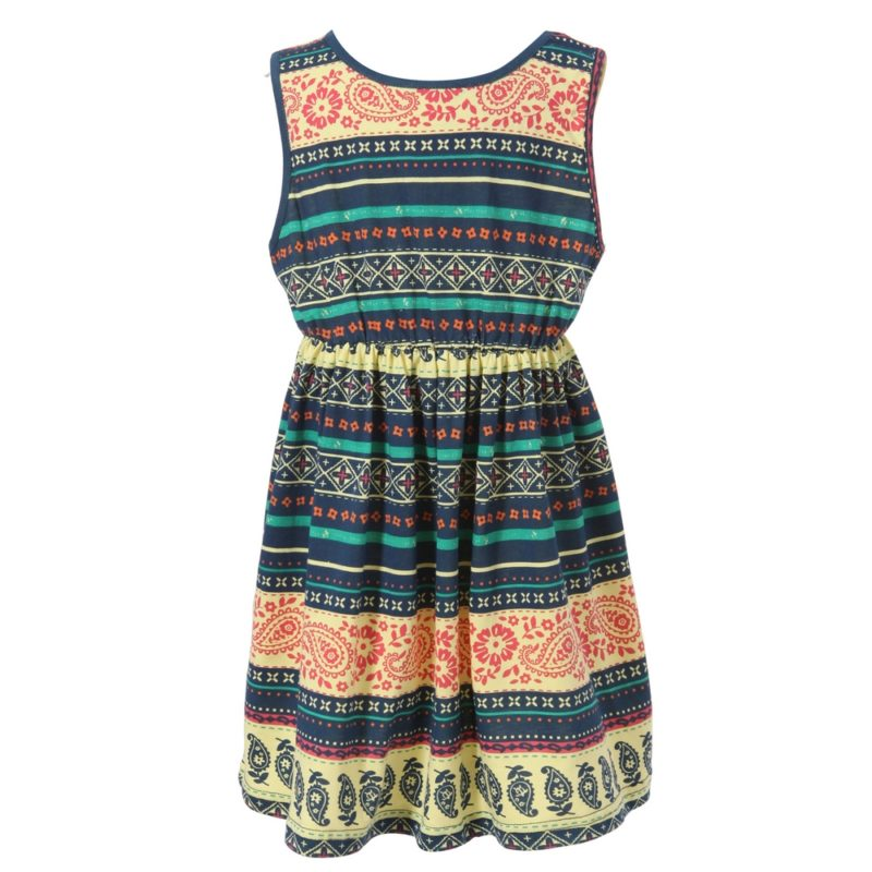 Dress With All Over Nation Patterned Print