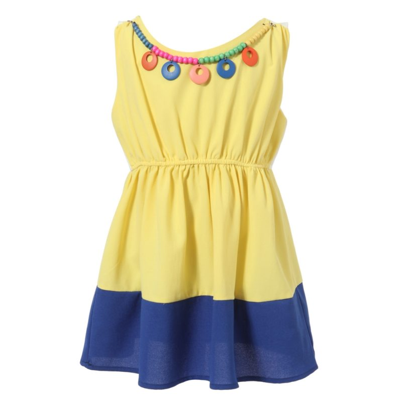 Dress with Fashion Colorful Beads Necklace