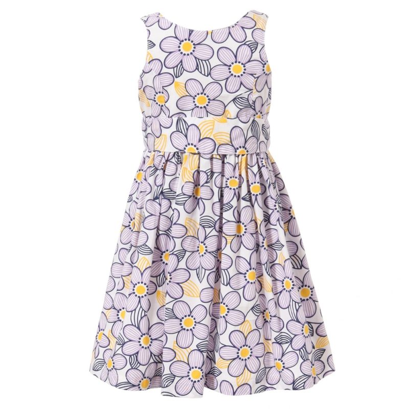 Floral Print Dress with Waistband