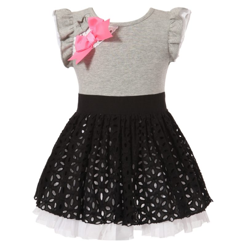 Sweet Dress with Layered Bottom 12M-4