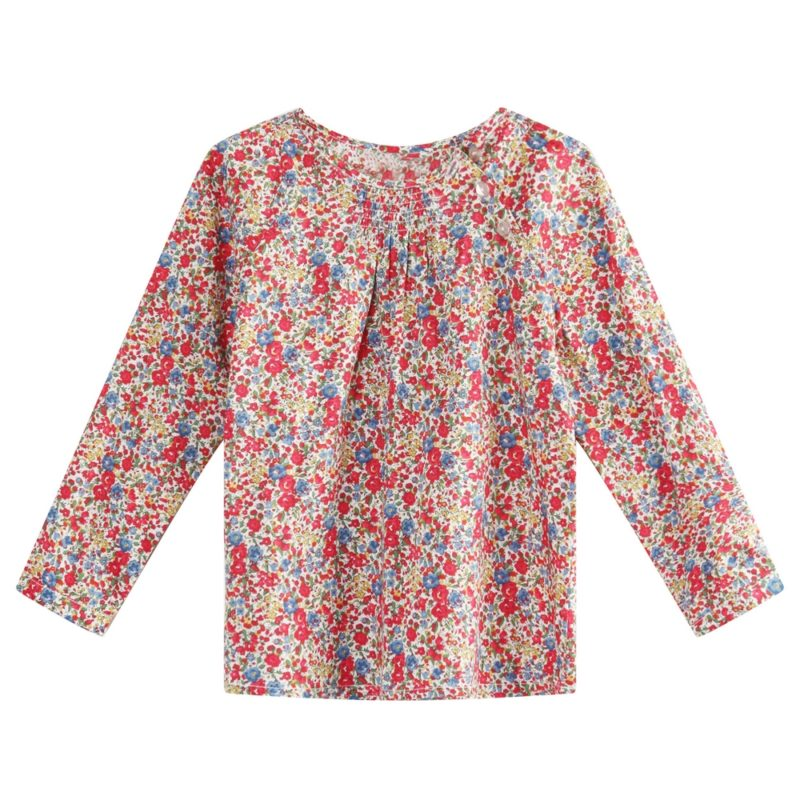 Floral Print Dress with Long Sleeve