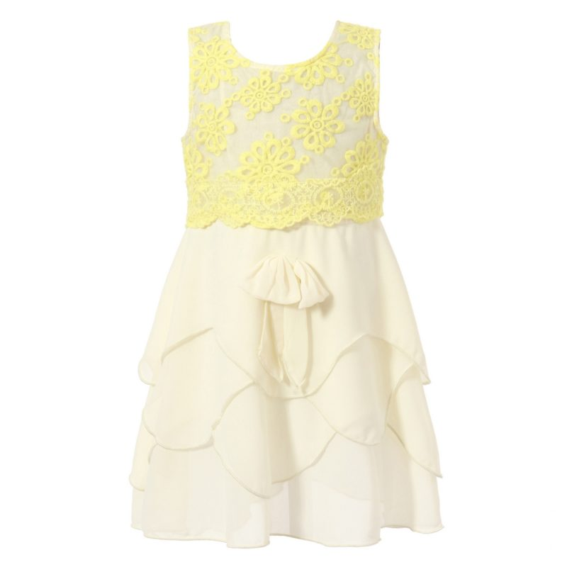 Sweet Sundress with Layered Ruffle Bottoms