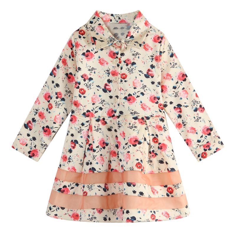 Sweet Floral Dress Coat