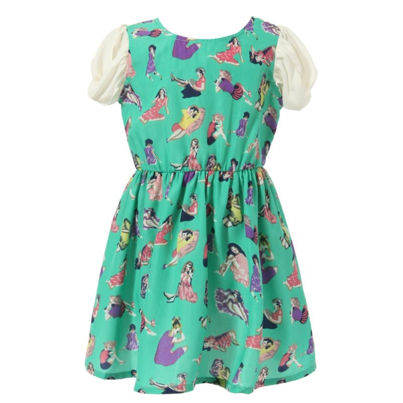 Chiffon Dress All Patterned with Girls