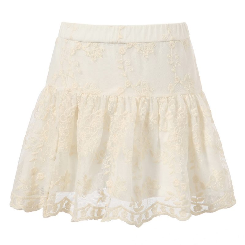 Skirt with Lace Covered