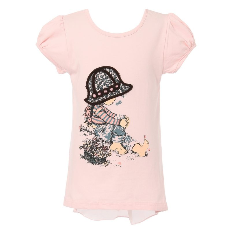 Short Sleeve T-Shirt with Girl