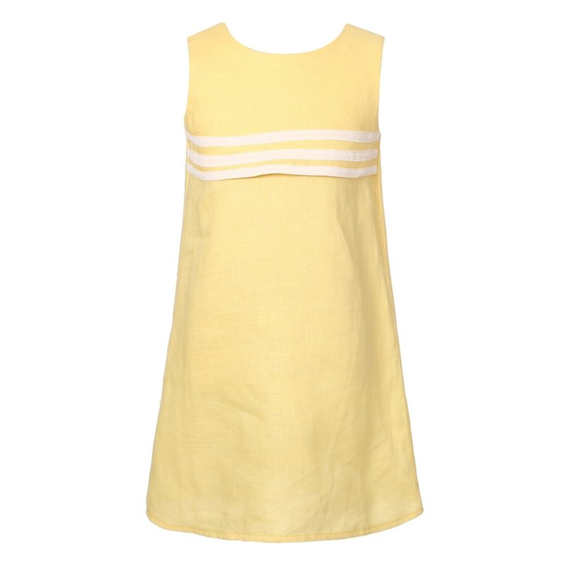 Sweet yellow linen sundress