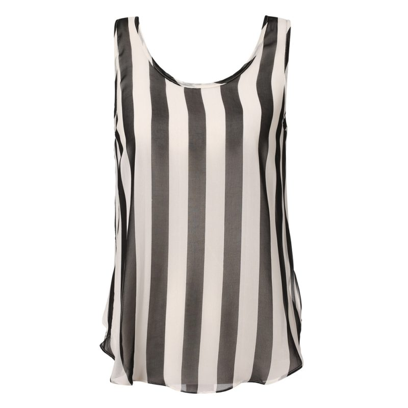 Striped Summer Chiffon Top