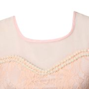 Summer Tank-top with Lace and Pearls