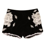 Black Suit with Flower and Lace Details