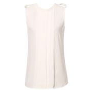 Summer Chiffon Tank Top with Pleats