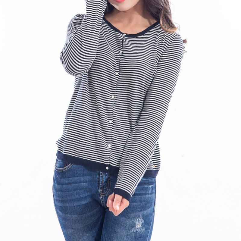 Striped Cardigan Top