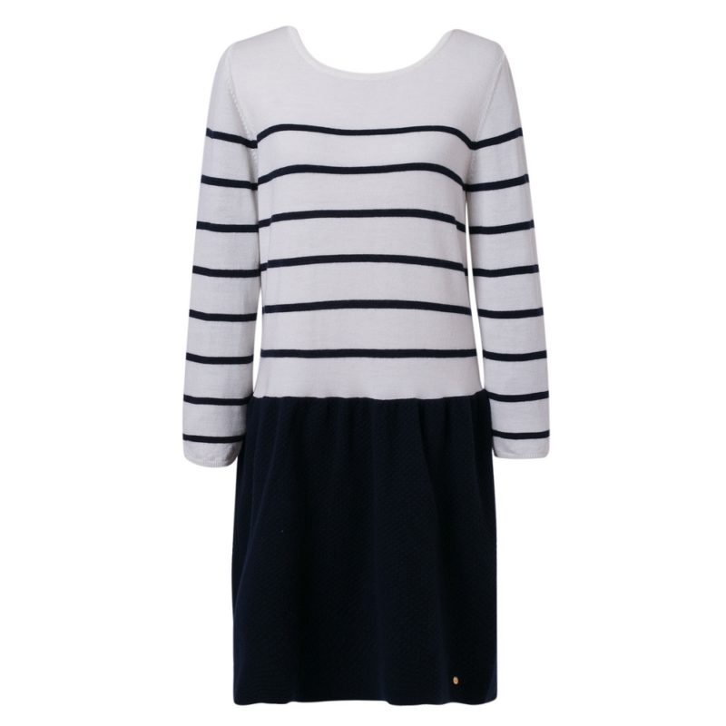 Elegant Striped Sweater Dress