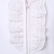 Knit jacket with ruffled details