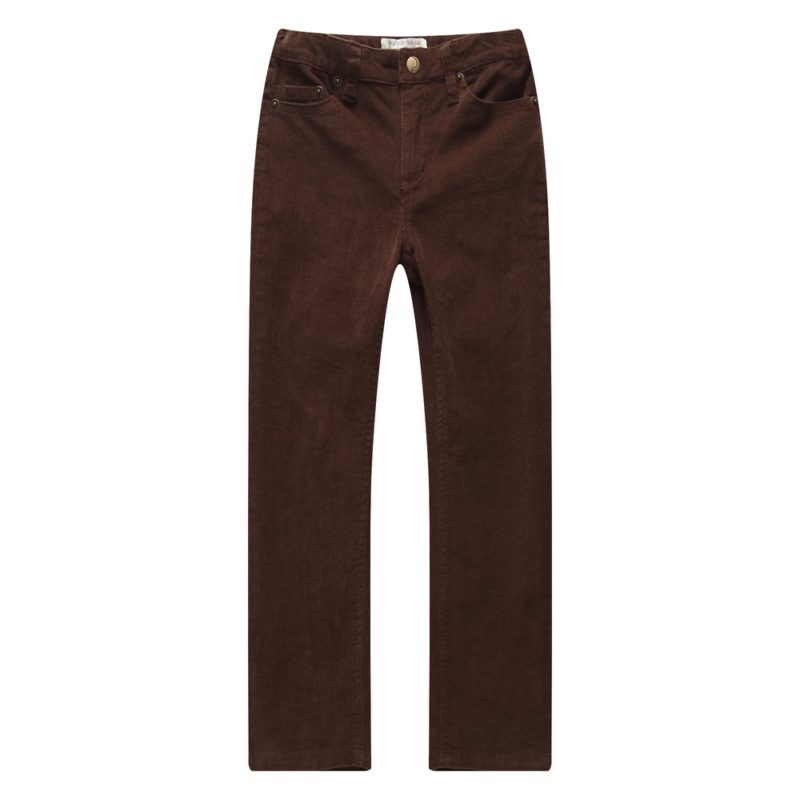Corduroy Pants with Elastic Waistband