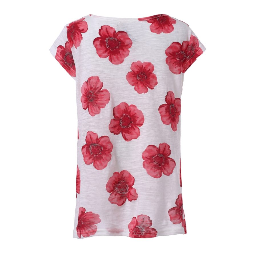 Short Sleeve T Shirt With Flowers Richie House