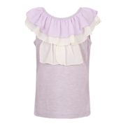 Summer T-shirt with Ruffled Collar