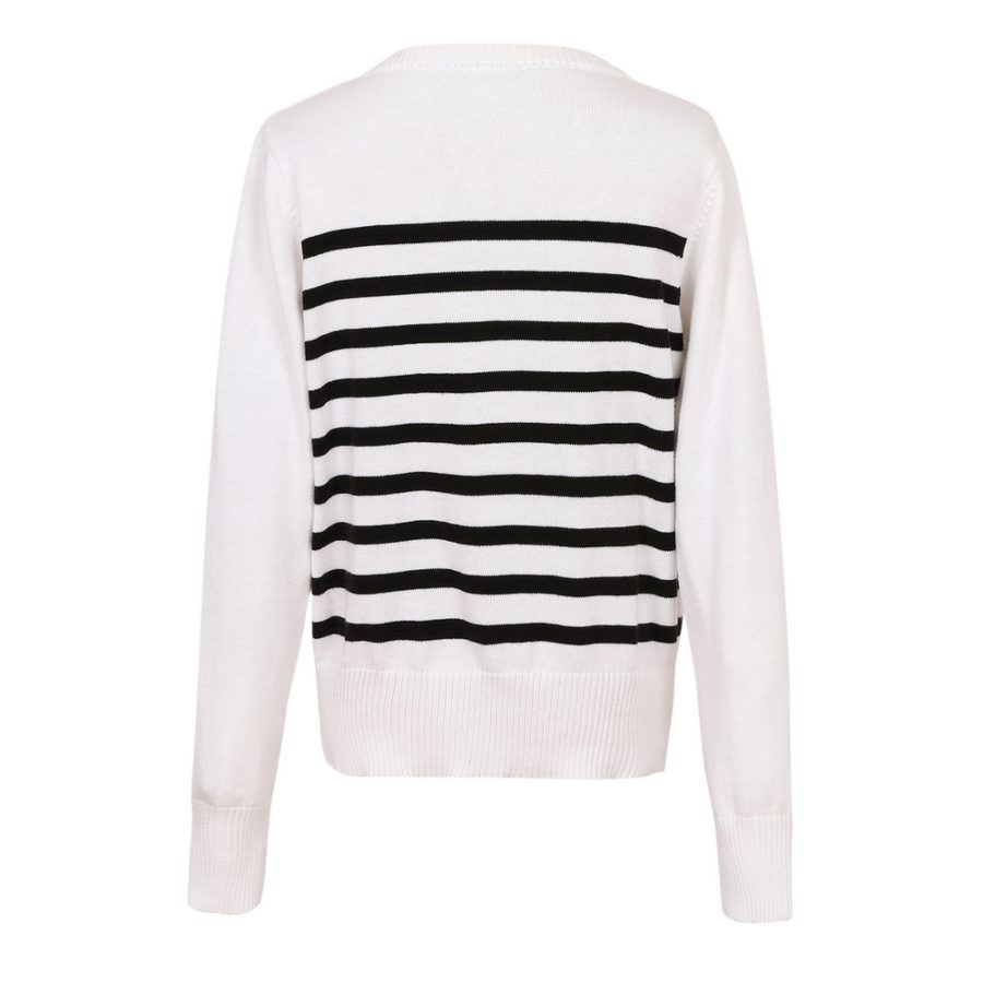 Striped Sweater Cardigan | Richie House