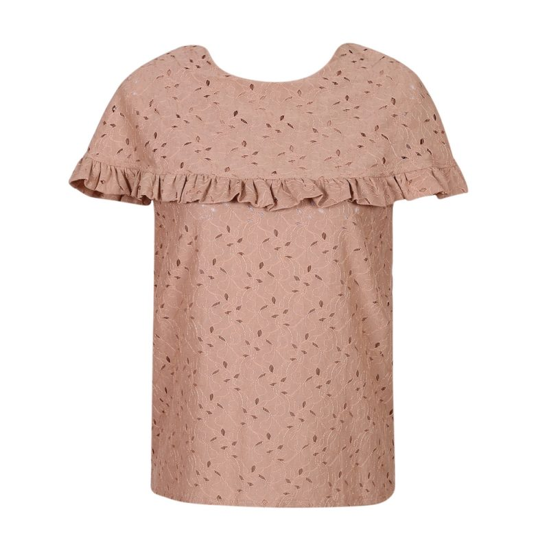 Lace Top with Cape Collar Uni Size for 8-12Y