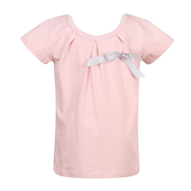 Knit T-Shirt with Bow