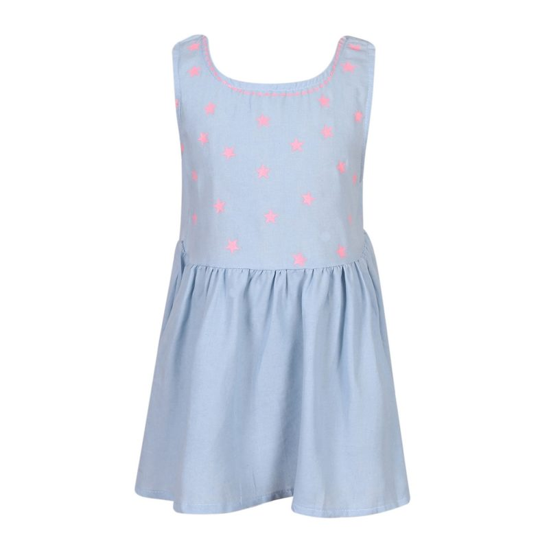 Summer Cotton Dress with Contrasting Stars