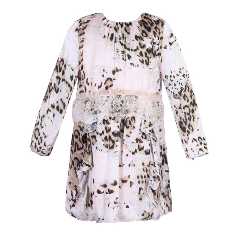 Long Sleeve Pink Leopard Dress