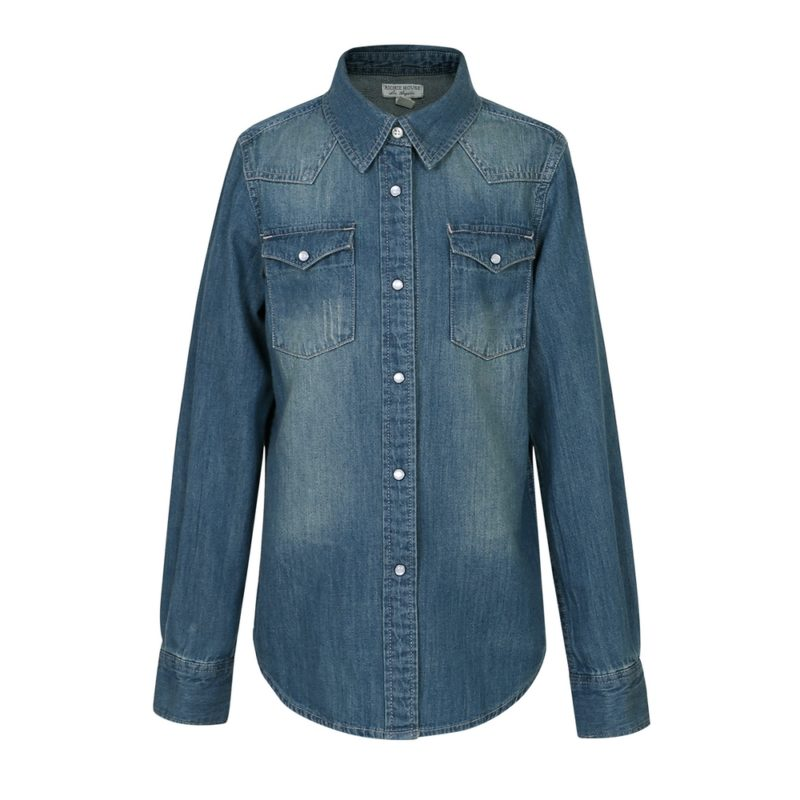 Cotton Denim Blouse