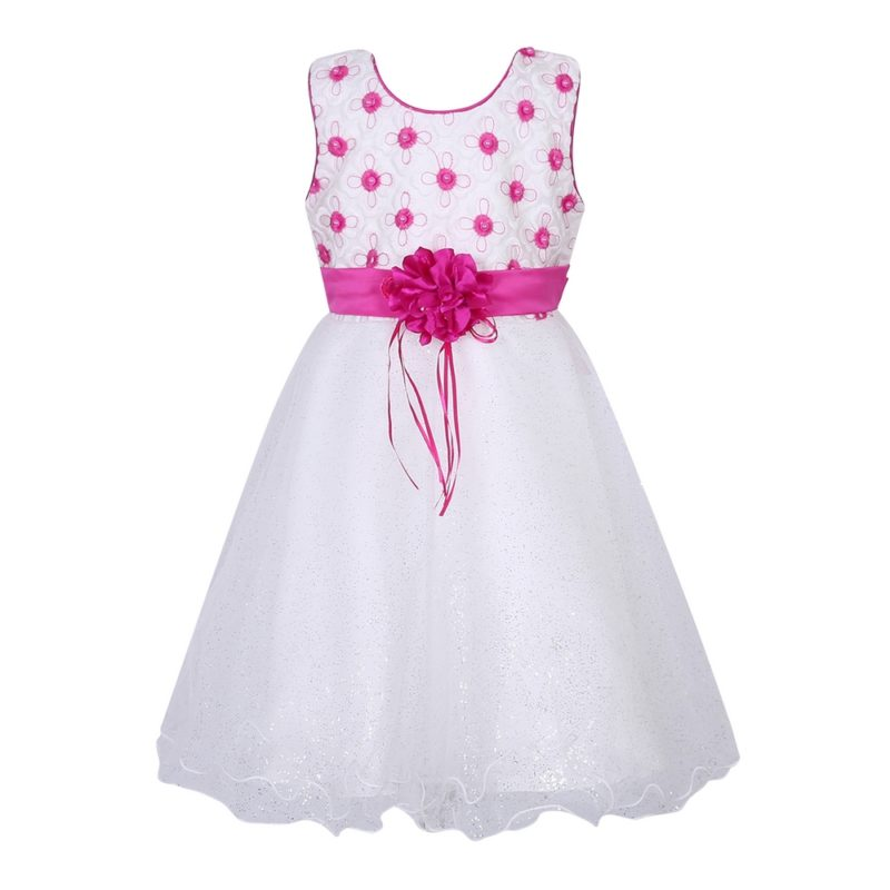 Sweet Party Dress with Flower