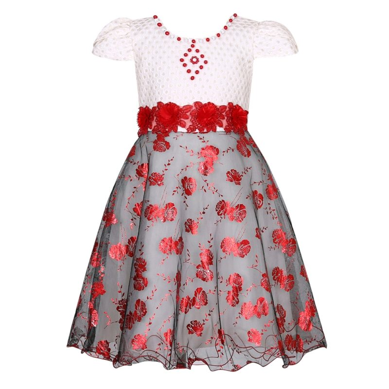 Party Princess Dress with Flowers