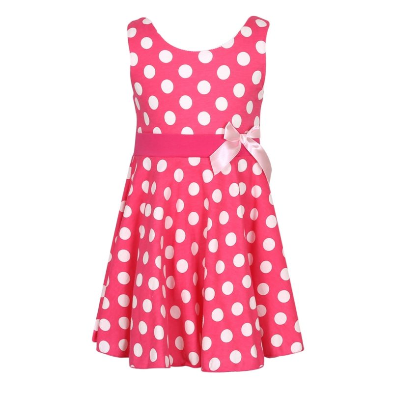 Knit Cotton Print Sundress with Bow