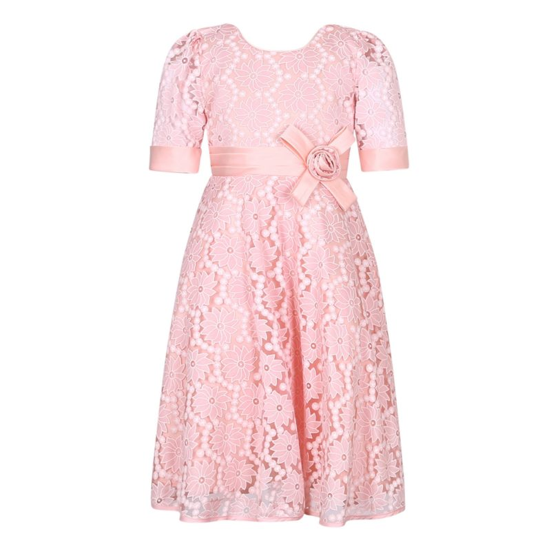 Princess Party Dress with Matching Bow