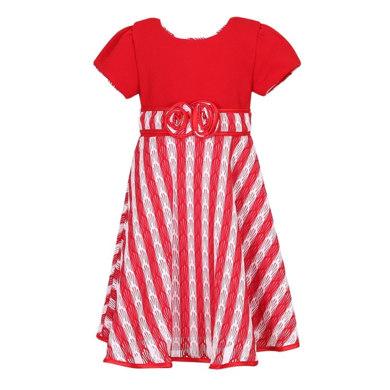 Party Dress with Matching Striped Bottom