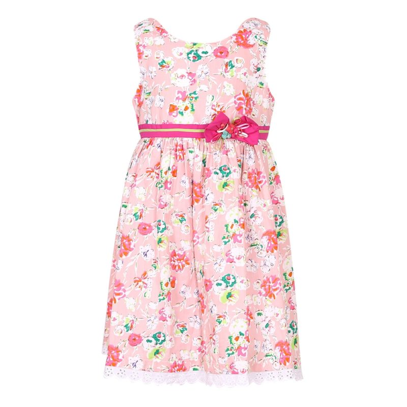 Cotton Flower Print Dress