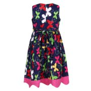 Colorful Princess Cotton Dress with Bow