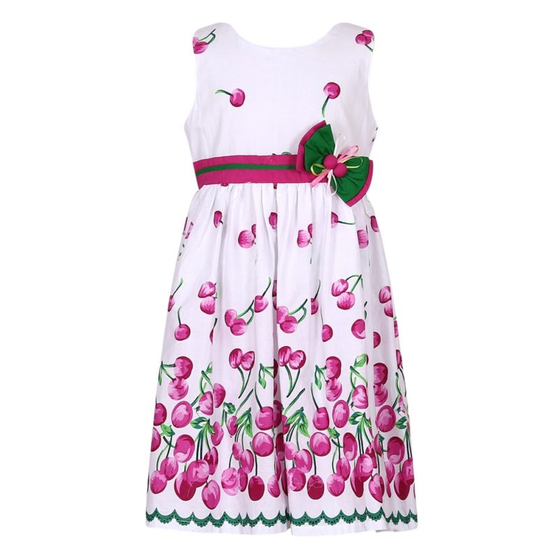 Cotton Summer Dress with Cherry Print