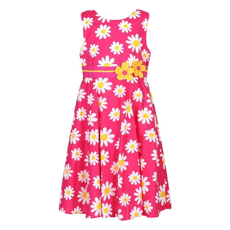 Cotton Sunflower Summer Dress