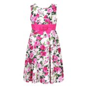 Big Flower Print Cotton Dress